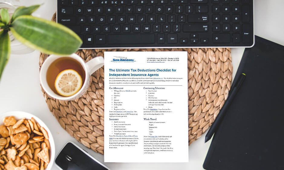 The Ultimate Tax Deductions Checklist for Independent Insurance Agents