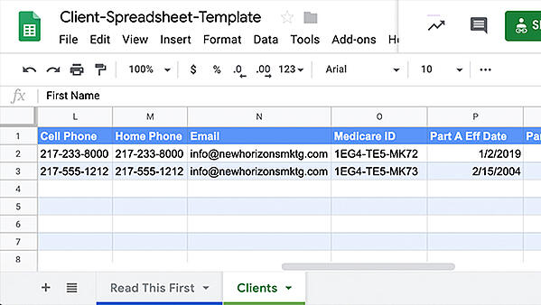 Client-Spreadsheet-Template