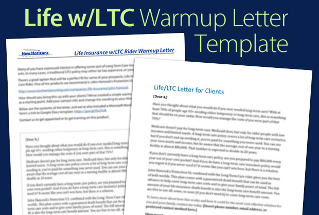 Life Insurance w/LTC Warmup Letter