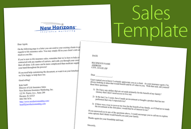 Download Your Life Insurance Sales Letter Template